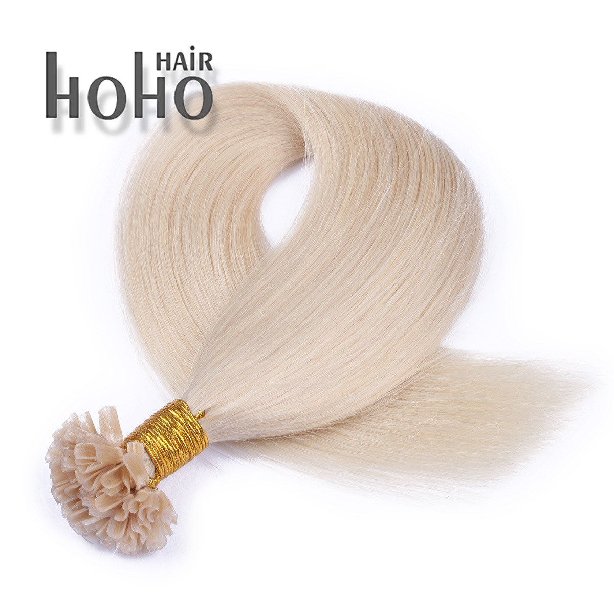 China Wholesale Remy Human Hair Blond 22 Inch U Tip Hair Extensions