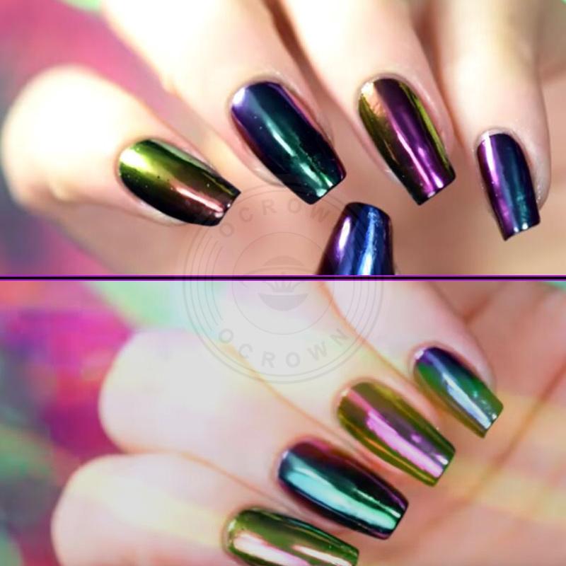 China Shining Chrome Mirror Chameleon Pigment Powder for Nail Art ...