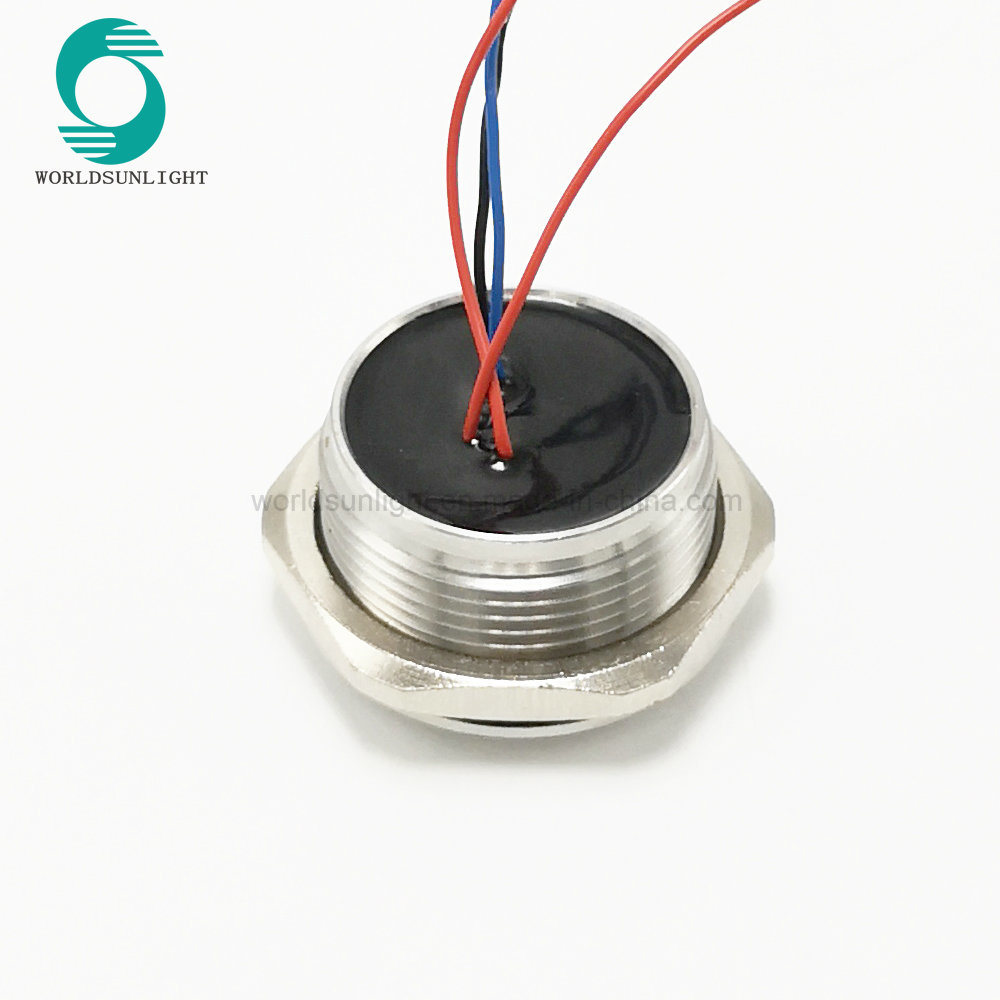 China Ip68 30mm Chamfer Head Momentary Ring Illuminated Stainless Piezo Switch Circuit Steel 12v With Wire Ws30brafenolr