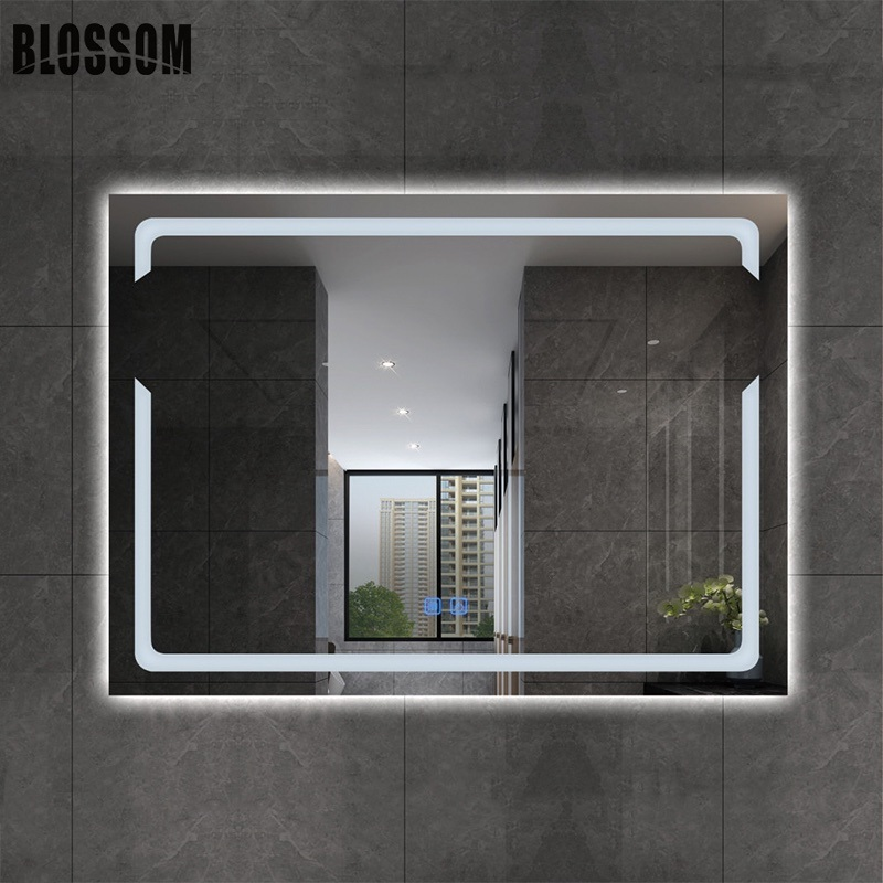 Touch Sensor Fogless Backlit Led Bathroom Mirror With Lights Attached China Bathroom Mirror With Light Led Bathroom Mirror Made In China Com