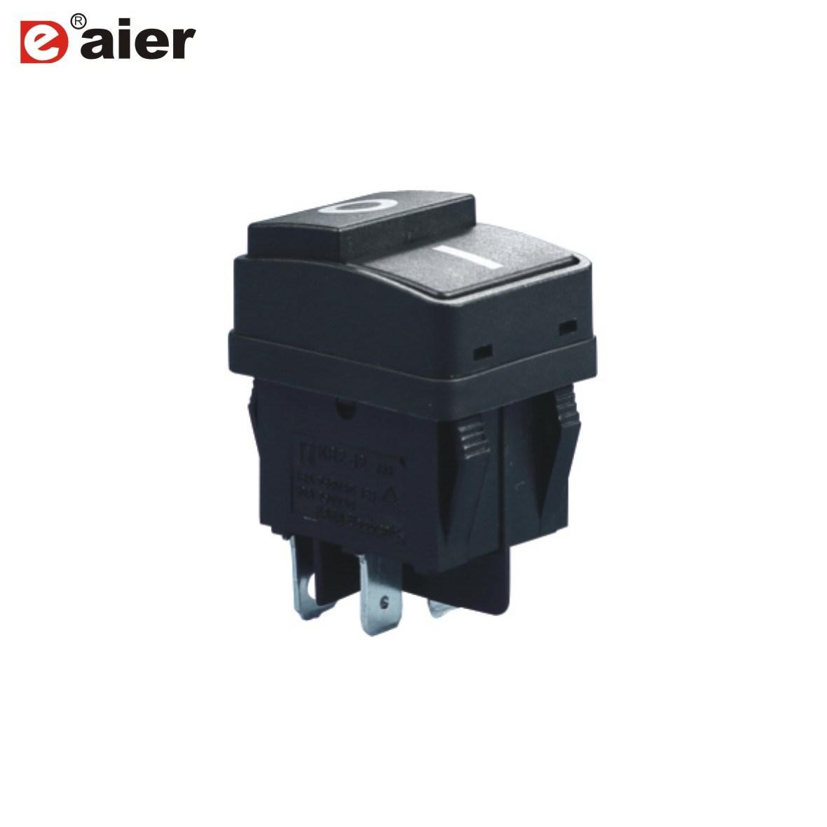 China 20A Push Button Black Rocker Switch 4 Pin on off - China ...