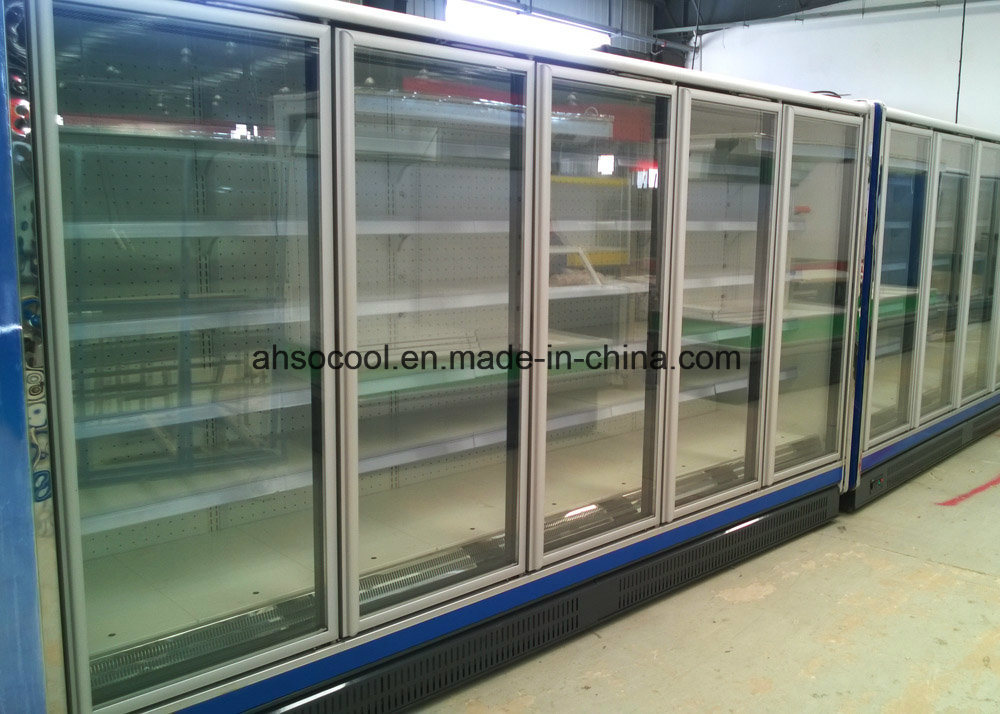 China Restaurant Supermarket Glass Door Refrigerator For Vegetable Fruit Storage Display