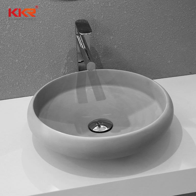 . Hot Item  Simple Modern Italian Solid Surface Bathroom Wash Basin  190710