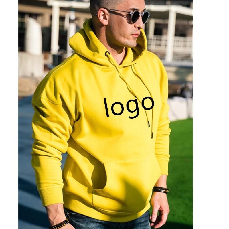 [Hot Item] High Quality Fashion Plain Thick Hoody Printing Logo Plain Pullover Blank Hoodies Men Custom Men′s Hoodie