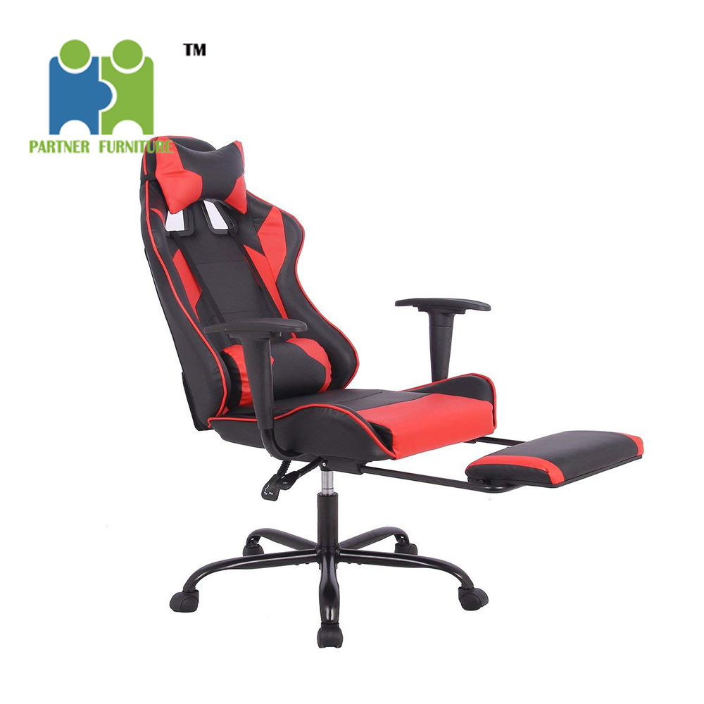 Astonishing Hot Item Ann Partner Modern Pu Leather Cover Computer Desk Office Gaming Chair With Lumbar Support Black And Red Color Dailytribune Chair Design For Home Dailytribuneorg