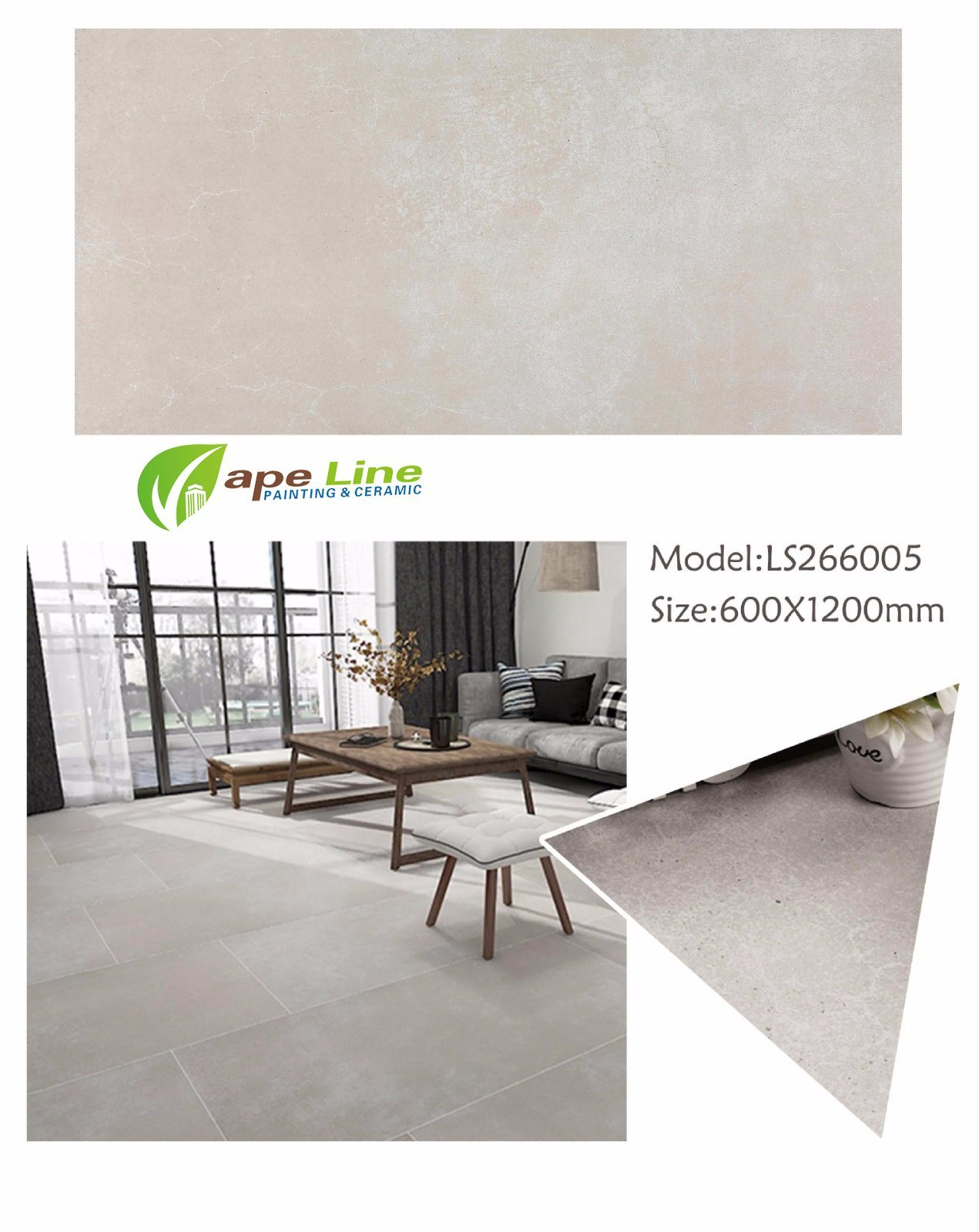China Rustic Floor Tiles Design Pictures Bedroom Wall 600 X 1200 Mm