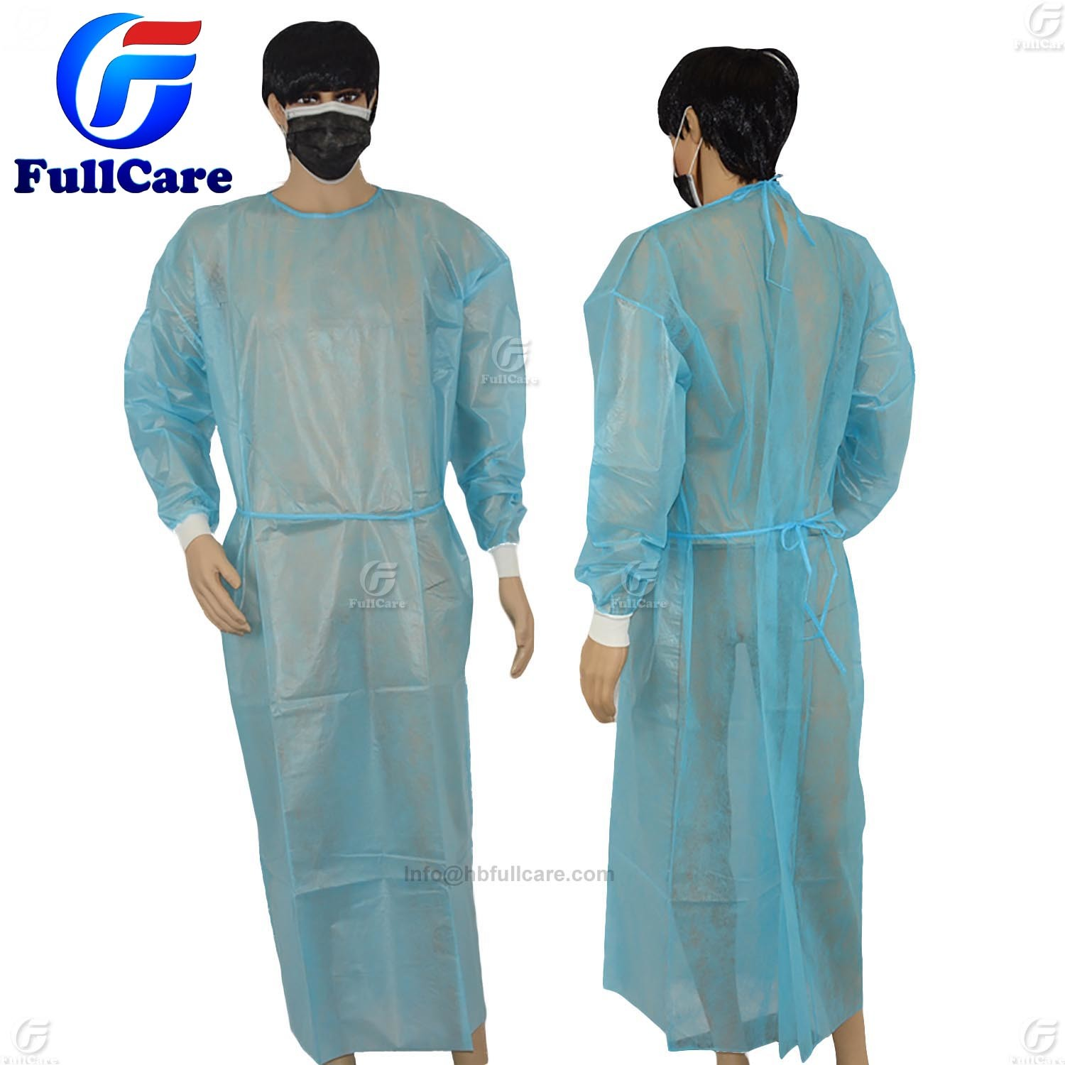 China Hospital Gown, CPE Gown, Disposable Isolation Gown, Medical ...