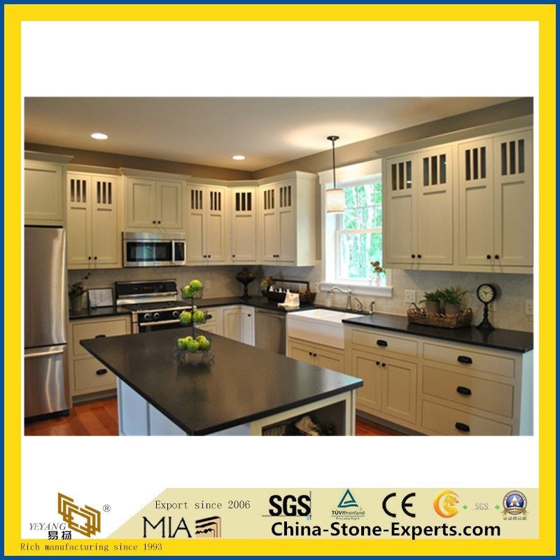 China Honed India Black Granite Kitchen Countertop Photos Pictures