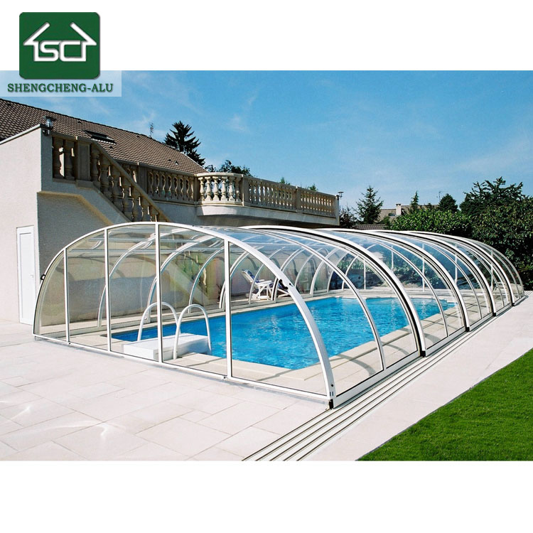 China Low Cost Swimming Pool Roof Aluminium Swimming Pool Enclosure ...