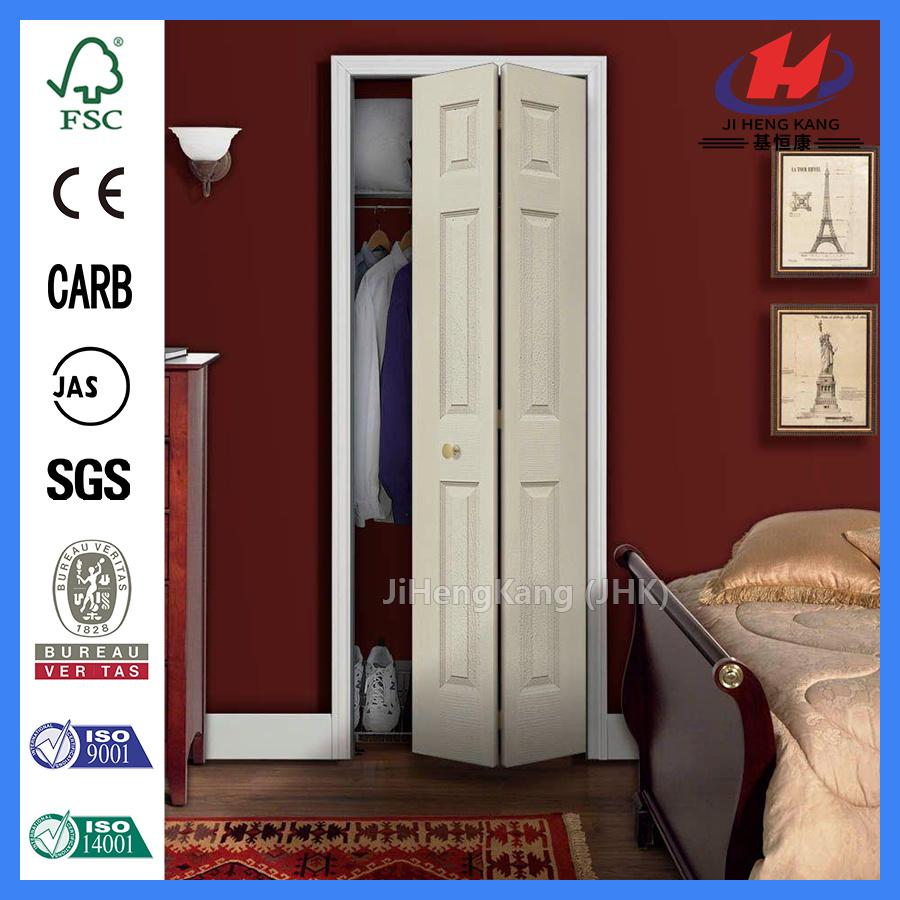 China Clear Louver Wood Interior Closet Bi Fold Door Bi Fold Door