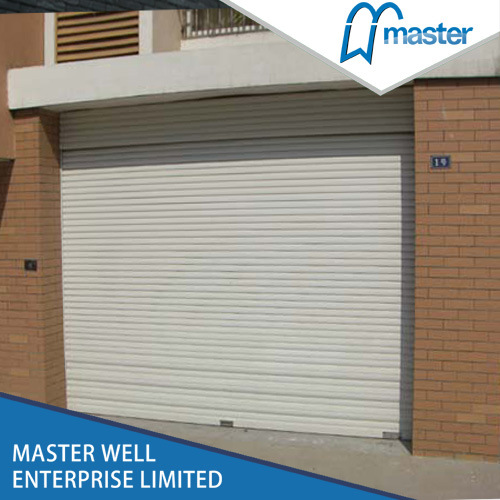 China Steel Roller Shutter Garage Garage Door Motor Roll Up