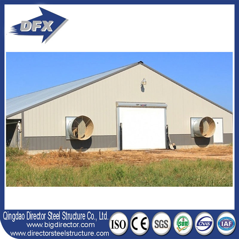 China Easy and Fast Installation Steel Frame Prefab Poultry House ...