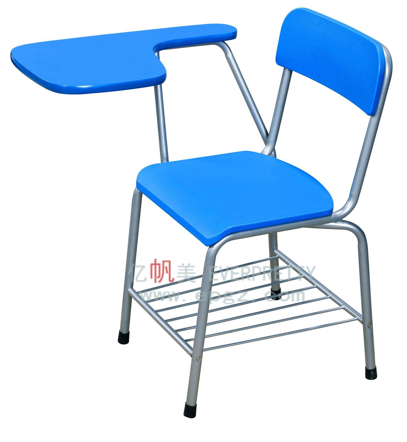 School Furniture Classroom Wooden Sketching Chairs With Folded Writing Pad