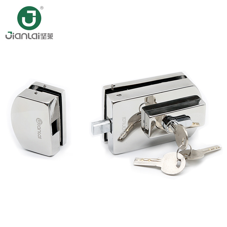 China Office Frameless Sliding Glass Door Locks Fitting Lock