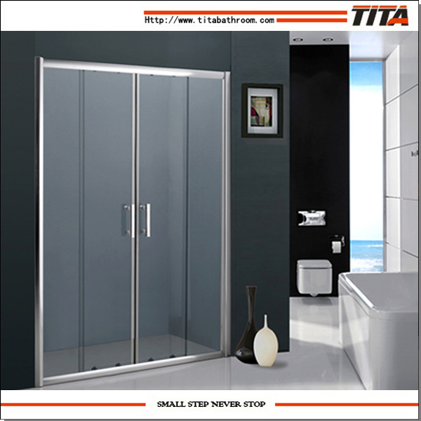 China Economical Design Folding Glass Shower Doors Crystal D China
