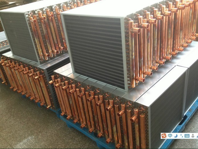 China Copper Tube Finned Coil Heat Exchanger for HVAC ...