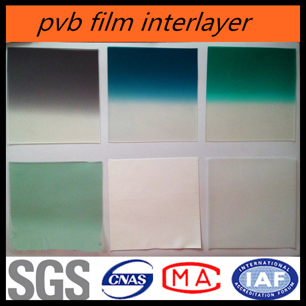 Chinese 0.76mm PVB Film Manufacturer for Automotive Grade Glass with Color Band