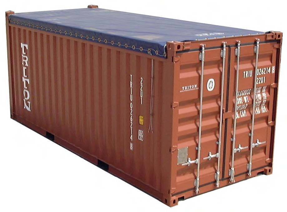 china brand new 20ft tarp open top container china standard shipping container brand new. Black Bedroom Furniture Sets. Home Design Ideas