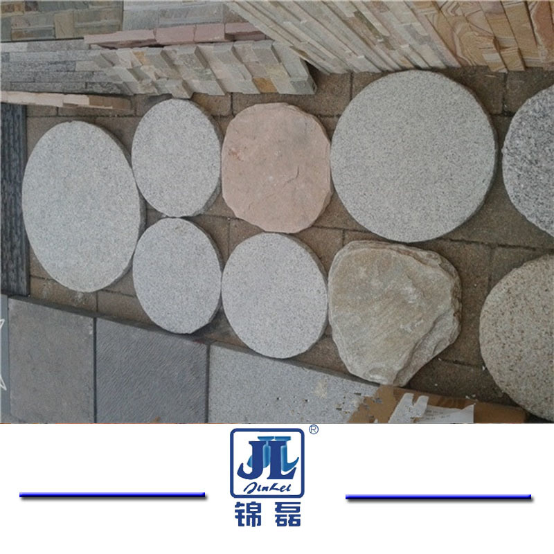 China G603 Natural Granite Round Paving Paver Stones For Landscaping Stone