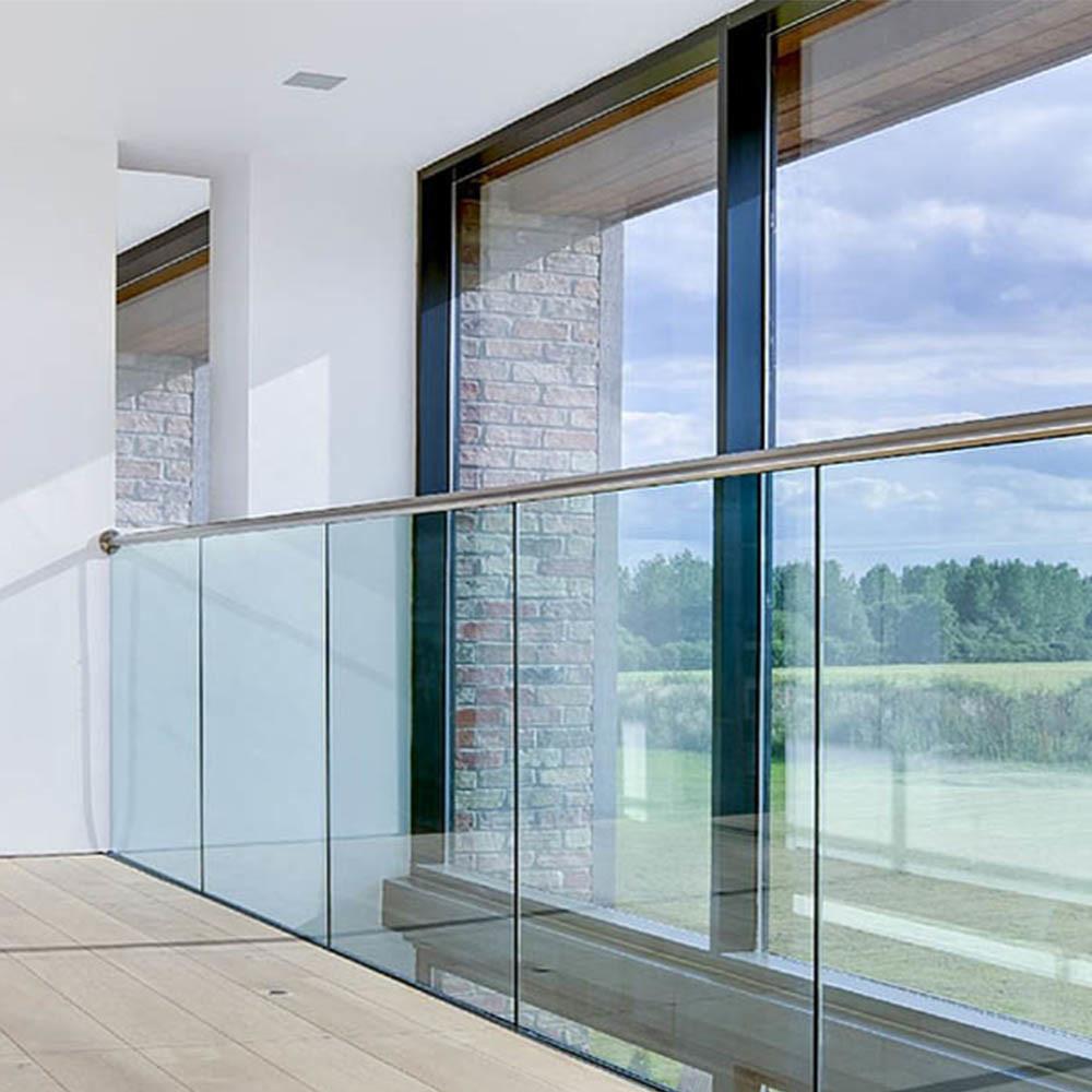China Modern Aluminum Track Glass Balcony Railing - China ...