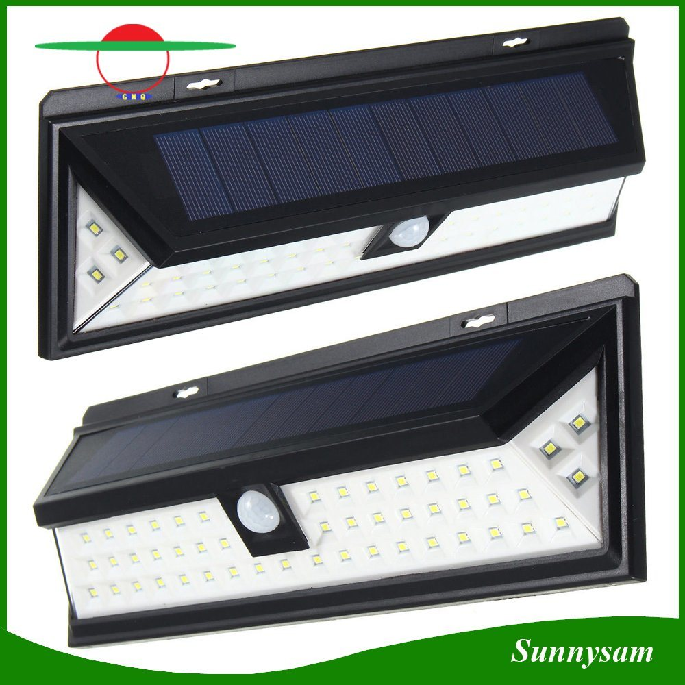 China 54led Solar Powered Garden Light Waterproof Motion Sensor Lamp With Security Wall 54 Led