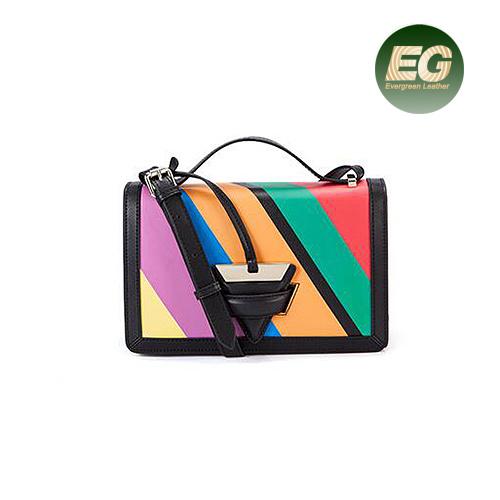 d663184f23a Popular Famous Brand Genuine Leather Handbags Contrast Color Trendy  Shoulder Bag for Ladies Emg5192. Get Latest Price