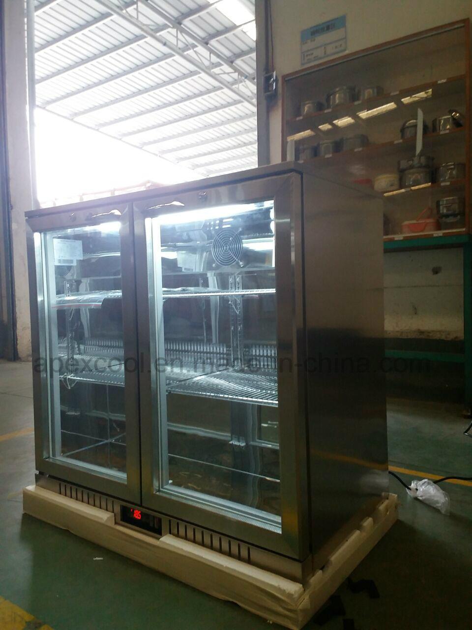 China 2 Doors Back Bar Under Counter Display Beer Coolerbeer Bottle