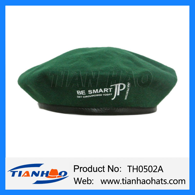 d901f74313d62 China Wholesale Wool Beret Army Military Cap with Customized Logo for  Promotion - China Fake Wool Beret Cap