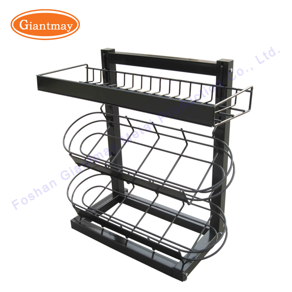 China 3 Tiers Customized Table Countertop Metal Wire Display Snack ...