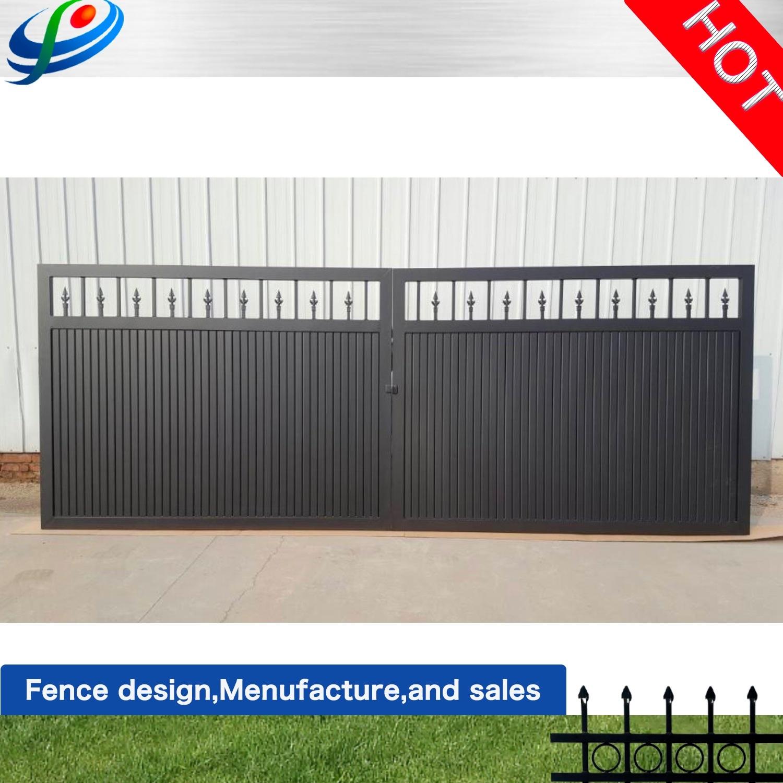 China Steel Fence Garden Driveway Wrought Iron Main Sliding