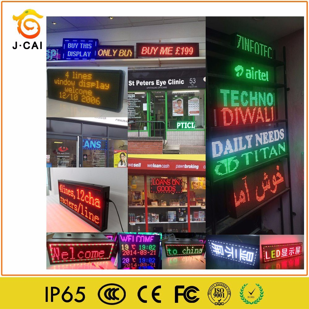[Hot Item] Outdoor P10 Full Color Moving Message LED Name Badge Billboard