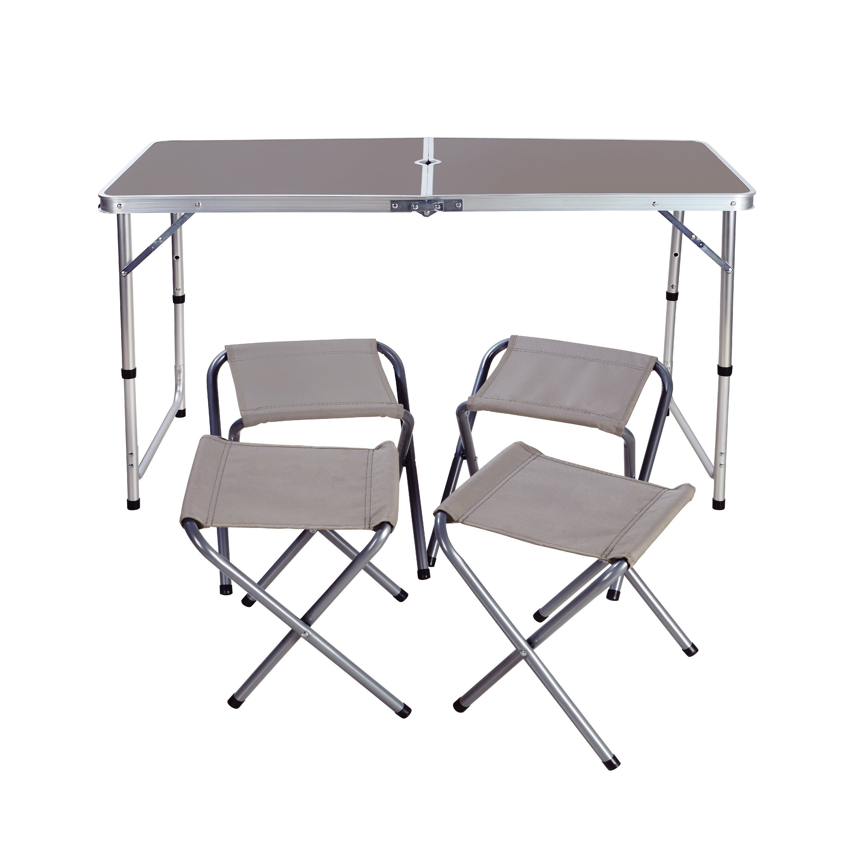 China Outdoor Height Adjustable Folding Table With 4 Folding Chairs Portable Camping Picnic Party Dining Table China Folding Tables Folding Dining Table