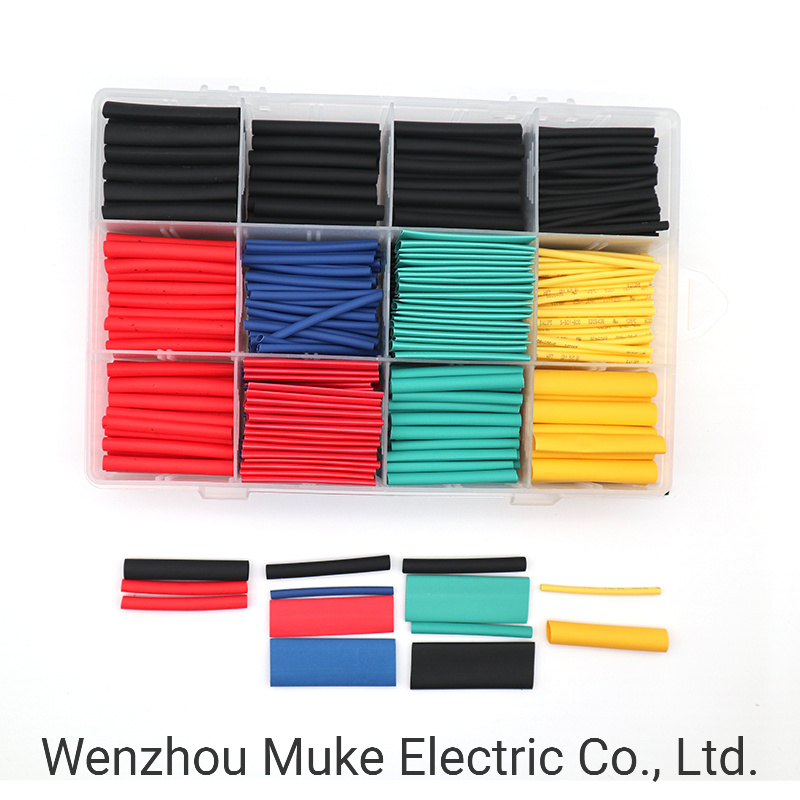530pcs 2:1Heat Shrink Tube Tubing Sleeving Wrap Wire Assorted Kit 5 Color 8 Size