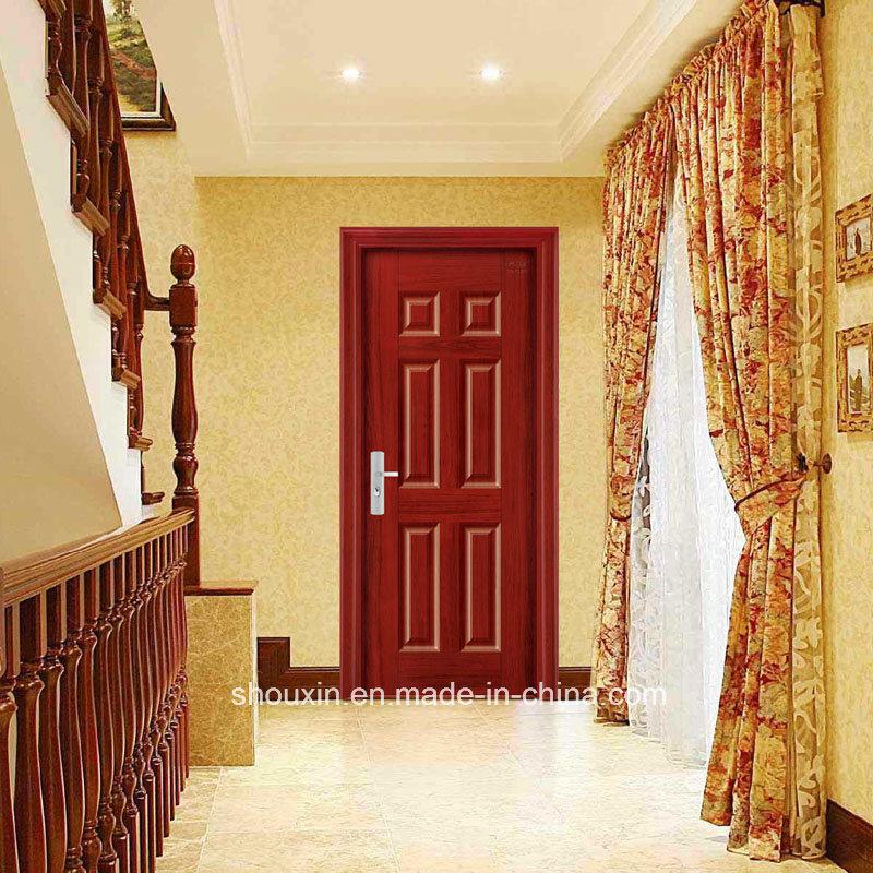 Luxury Steel Security Door Interior Steel Door Six Panel Popular
