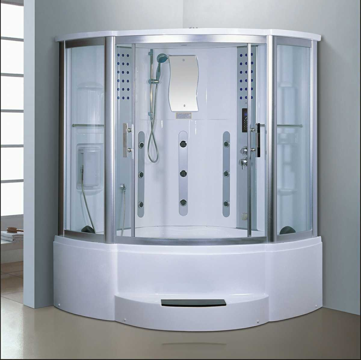 1500mm Sector Steam Sauna with Jacuzzi and Shower (AT-GT8227F)