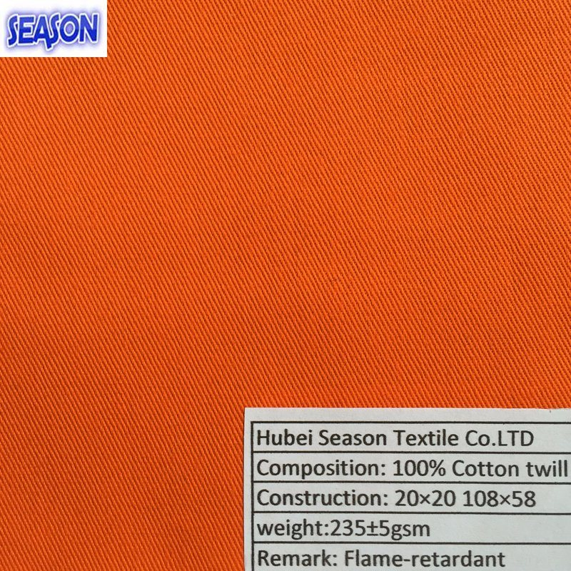 Cotton 20*20 108*58 230GSM En11611 En11612 Functional Fireproof Flame-Retardant Fabric for Protective Clothes