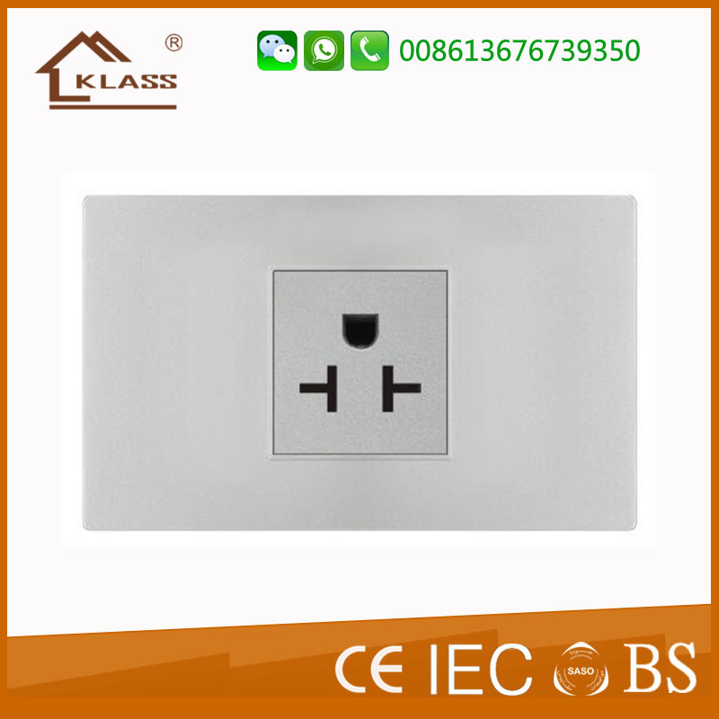 China UK Wall Switch Aircon Socket Outlet House Office Hotel Use ...