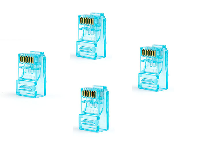 8p8c UTP CAT6 RJ45 Connector / RJ45 Modular Jack for Solid Wire, 100 PCS / Box
