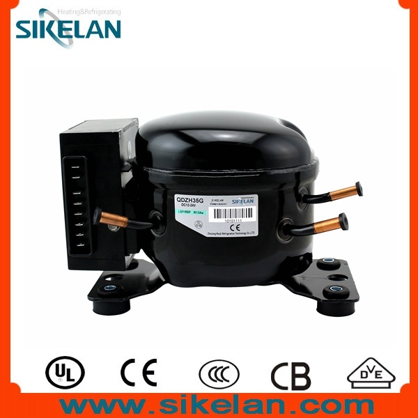 China Sikelan Solar Battery Power 12v 24v Dc R134a Compressor For Mini Camping Fridge Qdzh35g China Mini Fridge Compressor Dc Compressor