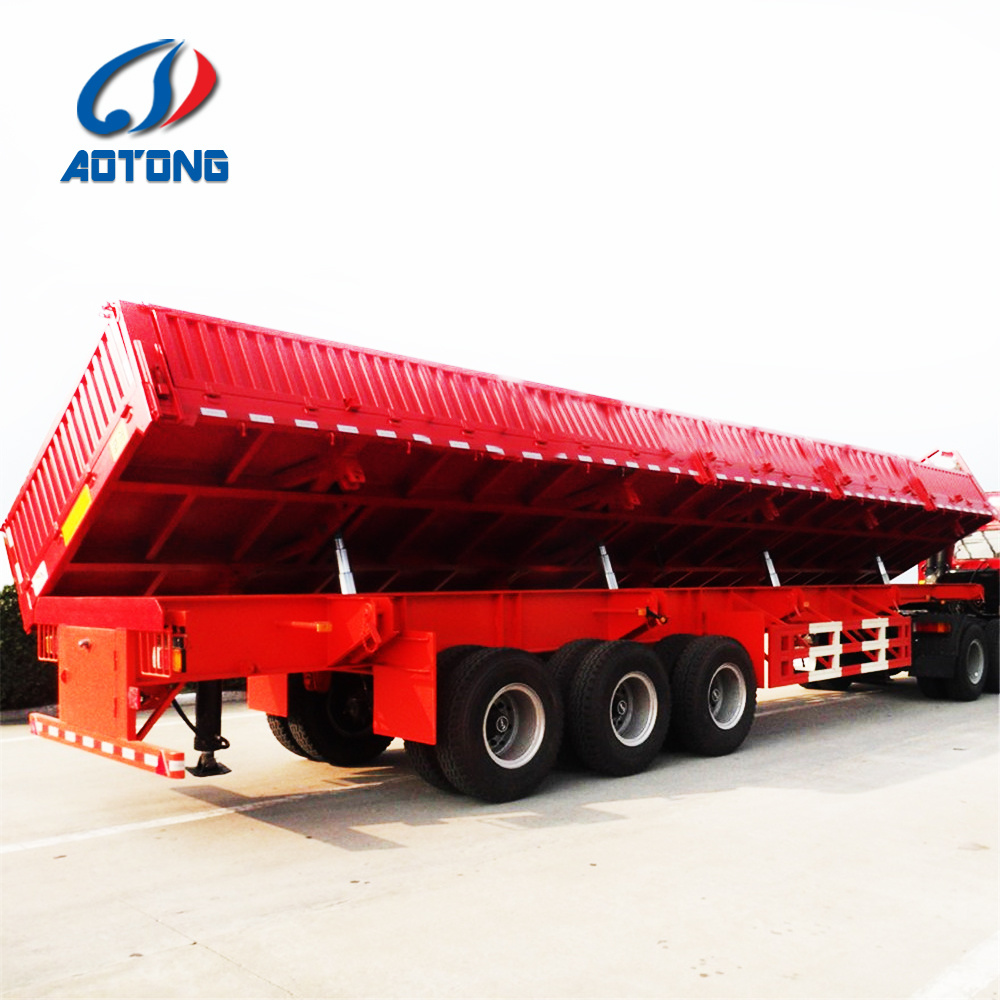 3 Axles Side Lift Dumping Truck Trailer (LAT9600) pictures & photos