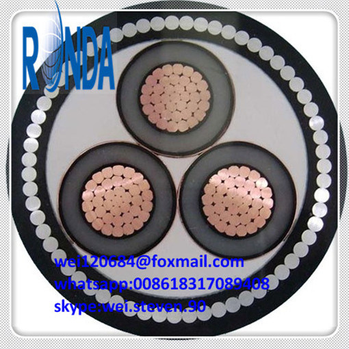 Underground UG XLPE Insulated PVC Sheathed Single Core Electrical Cable pictures & photos