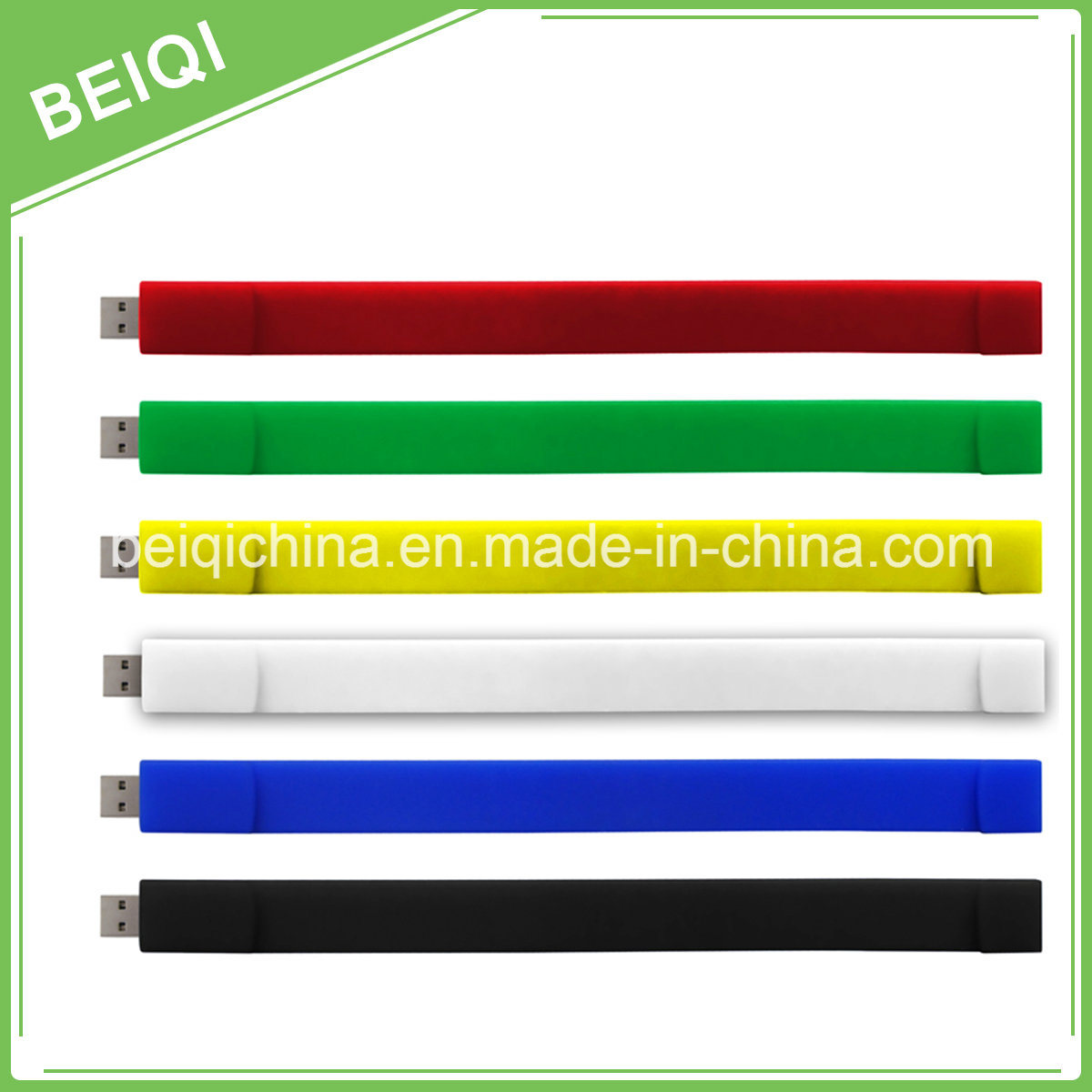 Popular Silicone Bracelet USB Flash Drive with Cheapest Price