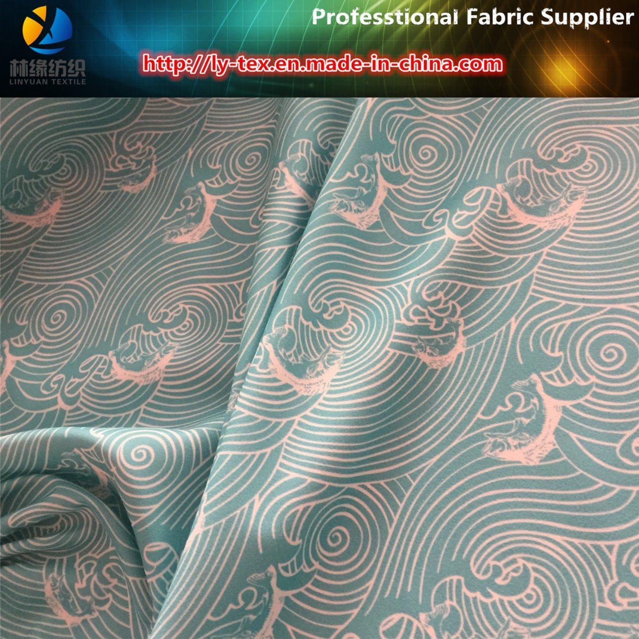 150d Polyester Twill Gabardine Printed Shirting Woven Fabric pictures & photos