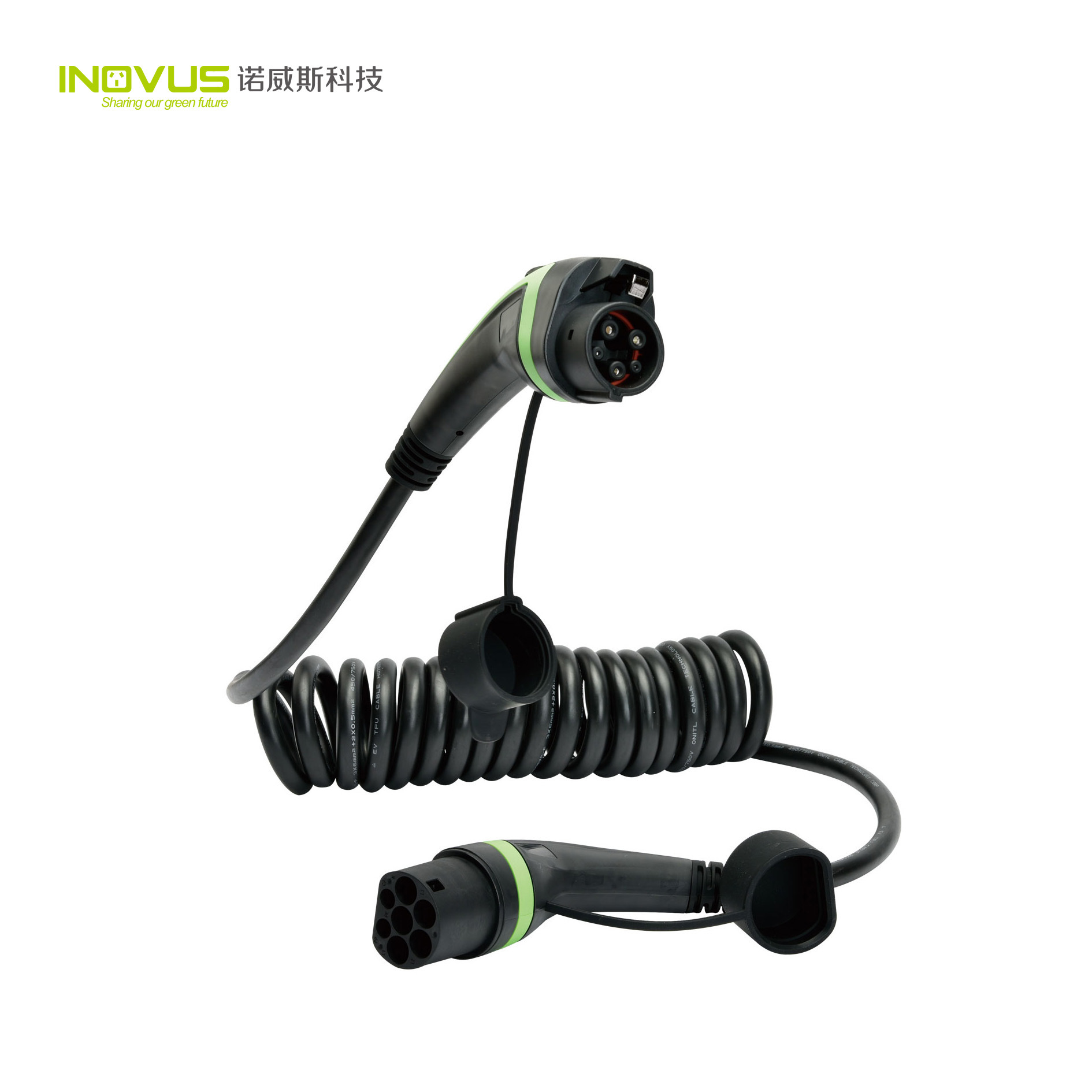 Inovus AC EV Charging Cable 16A 3phase 11kw Type 2 to Type 2 Female Plug with TUV Ce RoHS Certificate
