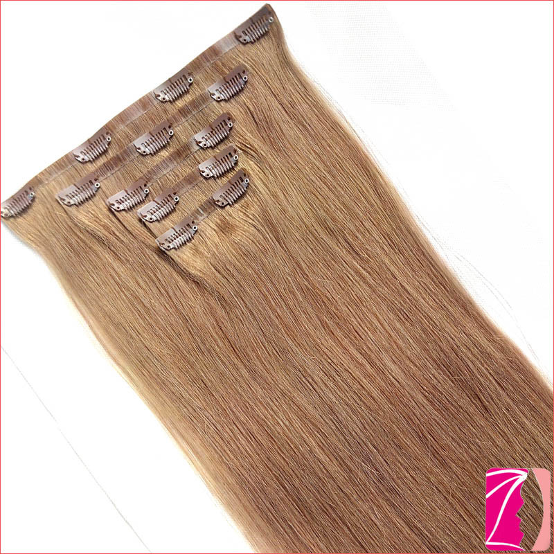 China 100 Luxury Real Human Seamless Clip In Hair Extension China
