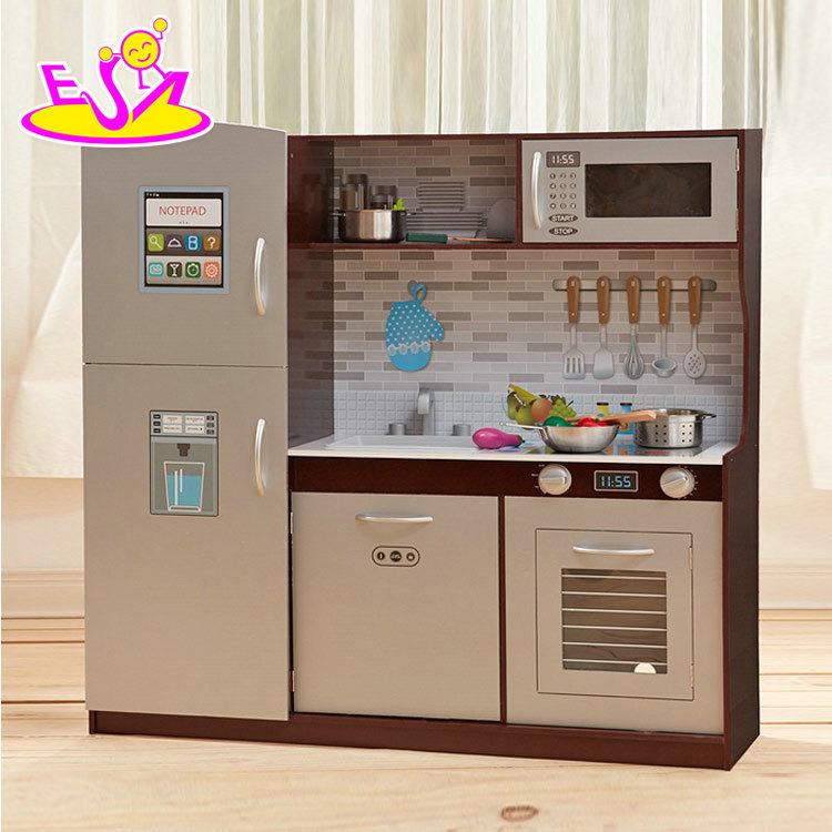 China New Hottest Preschool Pretend Play Wooden Kitchen Set