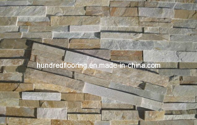 Multicolor Slate Ledgestone Tile for Wall and Floor