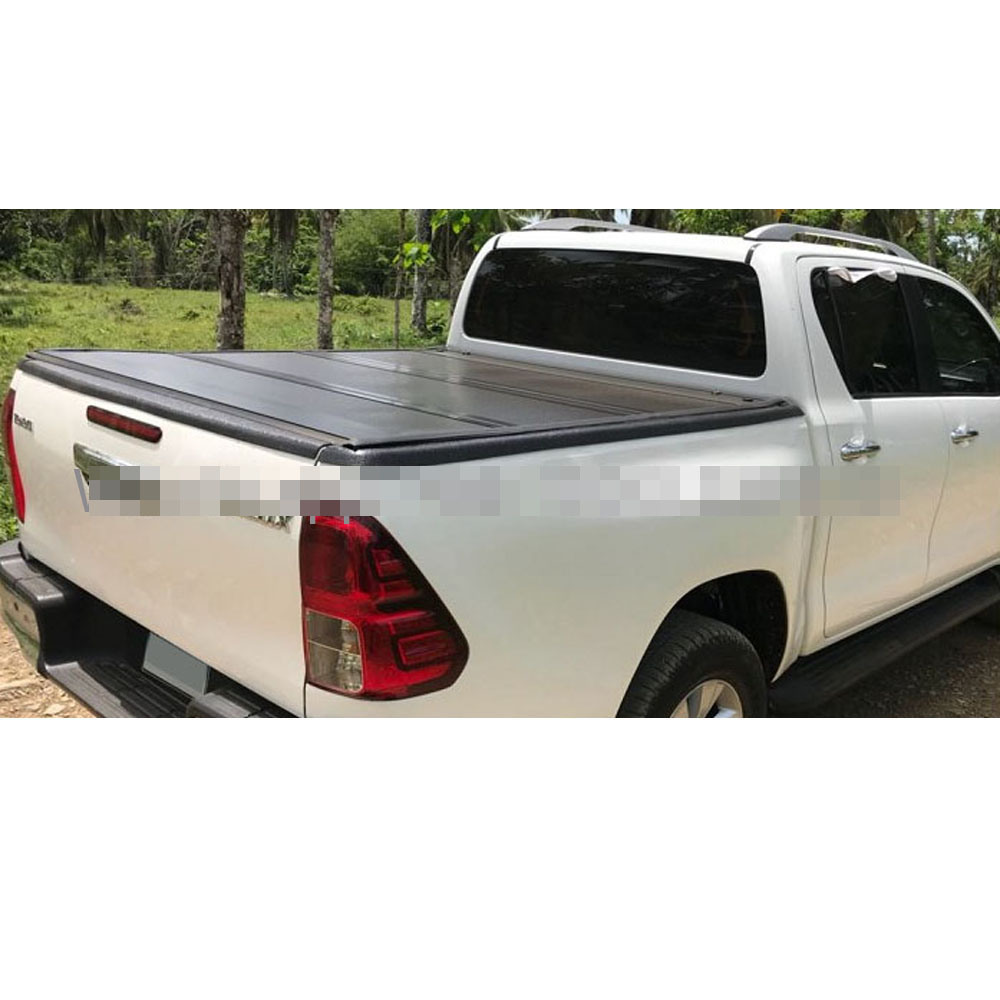 China Hard Fold Tonneau Cover Bed Cover Hard Tri Fold Load Cover For Toyota Hilux Revo 15up China Tonneau Cover For Toyota Hilux Revo Three Fold Cover For Toyota Hilux Revo