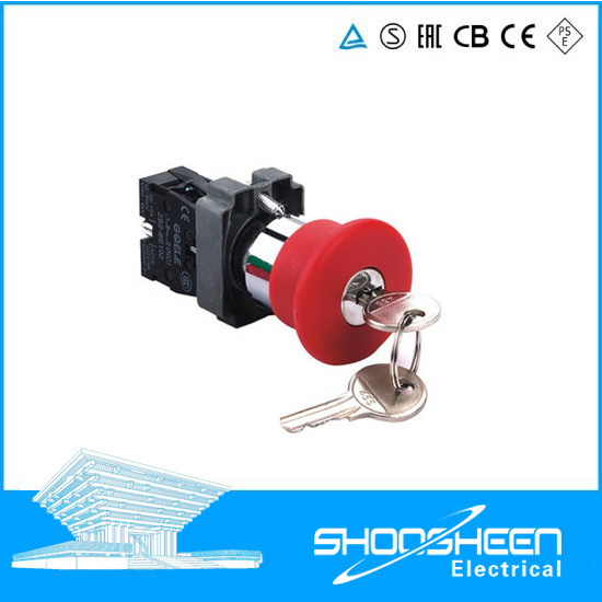 China Xb2 22mm 2 or 3 Position Key Operated Push Button