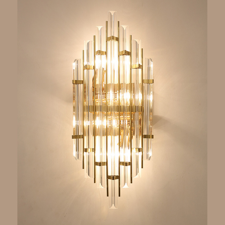 China Crystal Sconces Wall Lamp For